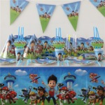 Paw patrol party plates including full party set This set is just unbelievable, so tempting that if you just visit the page you will want top buy it. Yes full buyer protection is available on this item and discounts are as follows On purchase of over US $999.00 you will get $50.00off On purchase of over US $1999.00 you will get $111.00 off On purchase of over US $350.00 you will get $5999.00 off . This full paw patrol party supply includes 112 pieces and in this 112 pcs almost all your part needs will be covered you can yourself checkout here https://www.aliexpress.com/item/112pcs-lot-Paper-Caps-Cartoon-Dog-Tablecloth-Kids-Favors-Plates-Baby-Shower-Flags-Birthday-Horns-Party/32757457964.html?spm=2114.30010308.3.11.oxUiyt&ws_ab_test=searchweb0_0,searchweb201602_1_116_10065_117_10068_114_115_113_10084_10083_10080_10082_10081_10060_10061_10062_10056_10055_10037_10054_301_10059_10032_10099_10078_10079_10077_426_10103_10073_10102_10096_10052_10050_10051,searchweb201603_2&btsid=ce923416-cdc6-49af-90e4-3925c8f29baf