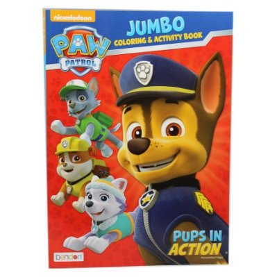 paw patrol pups coloring book